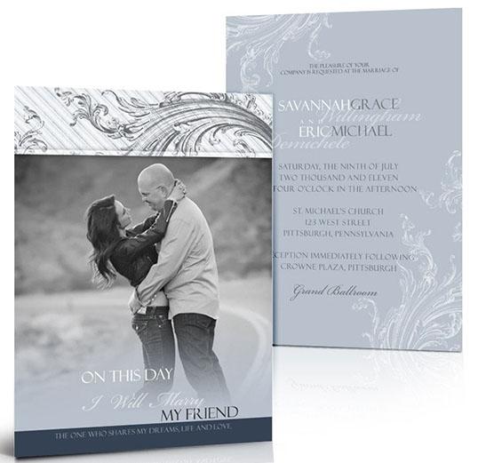 Double-Sided Photo Wedding Invitations